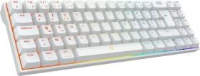 Drevo Calibur V2 Pro TKL PC/Mac, weiß, LEDs RGB, Gaote Outemu BLUE, USB/Bluetooth, FR