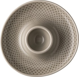 Rosenthal Junto Pearl Grey egg cup with tray (10540-405201-15525)