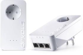 devolo dLAN 650 triple+ Starter Kit, HomePlug AV2, 3x RJ-45, 2er-Pack (9236/9242)