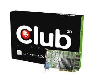 Club 3D GeForceFX 5200LE, 128MB DDR, VGA, DVI, TV-out, AGP (CGN-348TVD-1/CGN-348ATVD)