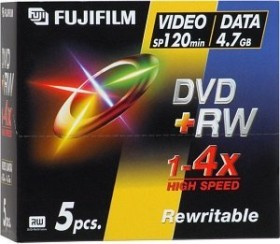 Fujifilm DVD+RW 4.7GB 4x, 5-pack Jewelcase (45267)