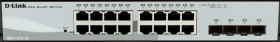 D-Link DGS-1210 Desktop Gigabit Smart Switch, 16x RJ-45, 4x SFP (DGS-1210-16)