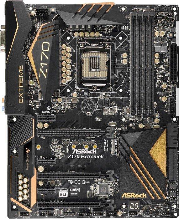 ASRock Z170 Extreme6 (90-MXGXQ0-A0UAYZ)