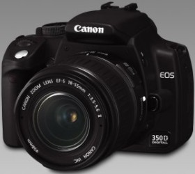 Canon EOS 350D schwarz Gehäuse inkl. CompactFlash Card (CF) 1GB (0210B117)