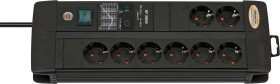 Brennenstuhl Premium-Line 30000A 8-fach, schwarz, 3m (1256000398)