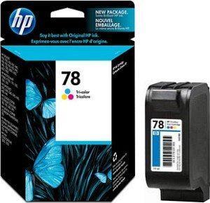 HP 78 Printhead with ink coloured (C6578DE)