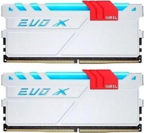 GeIL EVO X weiß/rot DIMM Kit 16GB, DDR4-3000, CL16-16-16-36 (GEXG416GB3000C16ADC)