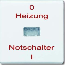 """Busch-Jaeger Allwetter 44 Wippe mit Aufdruck """"Heizung"""", weiß (2102 H-32)"""
