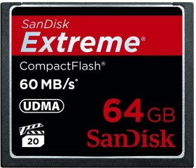 SanDisk R60/W60 CompactFlash Card [CF] Extreme 64GB (SDCFX-064G-X46)