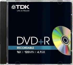 TDK DVD+R 4.7GB 16x, 1-pack Jewelcase