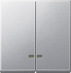 Merten System M Doppelwippe Thermoplast edelmatt, aluminium (MEG3420-0460)