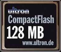 Ultron CompactFlash Card (CF) 128MB (UCF-128) (8705)