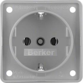 Berker Integro FLOW Steckdose SCHUKO, grau matt (941852506)