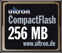 Ultron CompactFlash Card (CF)  256MB (UCF-256) (8719)