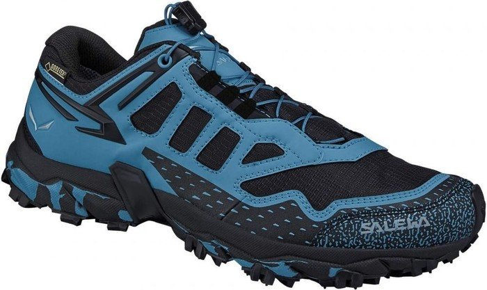 Salewa Damen WS Ultra Train Gore-Tex Outdoor Fitnessschuhe, Schwarz (Black/Blue 0931), 37 EU