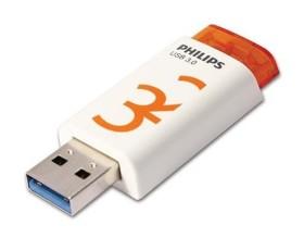 Philips Eject 3.0 32GB weiß/rot, USB-A 3.0 (FM32FD65B/97)
