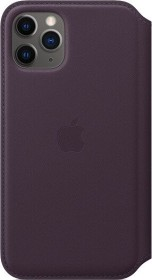 Apple Leder Folio Case für iPhone 11 Pro Aubergine (MX072ZM/A)