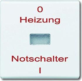 """Busch-Jaeger Allwetter 44 Wippe mit Aufdruck """"Heizung"""", alpinweiß (2102 H-34)"""
