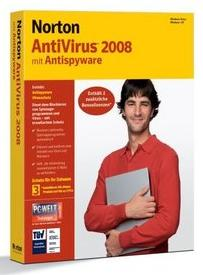 Symantec: Norton AntiVirus 2008, 3 User (English) (PC) (12775266)