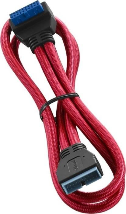 CableMod ModFlex interne USB 3.0 Verlängerung, gewinkelt, rot, 50cm (CM-CAB-RIU3-50KR-R)