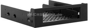 "BitFenix Drive Bay adapter black, 2.5"" Hard Drives mounting frame (BFA-ADPT-525KK-RP) -- © caseking.de"