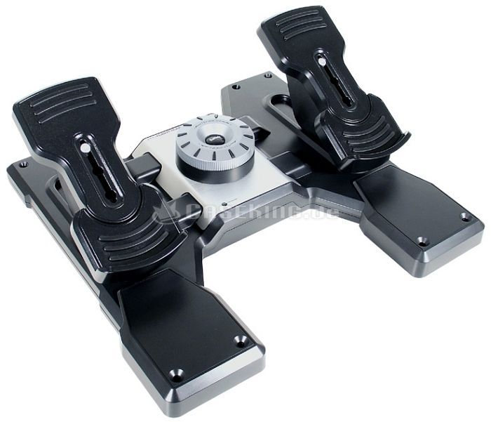Saitek Pro Flight Rudder pedals, USB (PC) (PZ35) -- © caseking.de