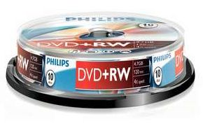 Philips DVD+RW 4.7GB, 10er-Pack