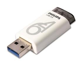 Philips Eject 3.0 64GB weiß/schwarz, USB-A 3.0 (FM64FD65B/97)