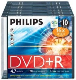 Philips DVD+R 4.7GB, 10er-Pack (DR4S6S10F)
