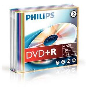 Philips DVD+R 4.7GB, 5er-Pack (DR4S6C05F)
