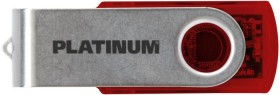 BestMedia Platinum Twister transparent rot 32GB, USB-A 3.0 (177689)