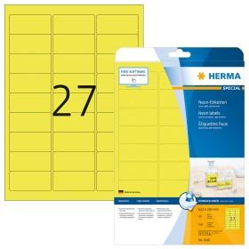 Herma Neonetiketten 63.5x29.6mm, gelb, 20 Blatt (5140)