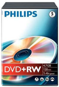 Philips DVD+R 4.7GB, 5er Videobox (DW4S4T05F)