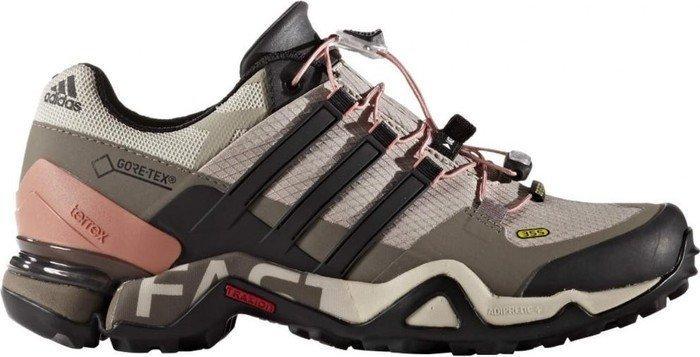 adidas Damen Terrex Fast R GTX Trekking-& Wanderstiefel, Beige (Vapour Grey/Core Black/Tech Earth), 37 1/3 EU