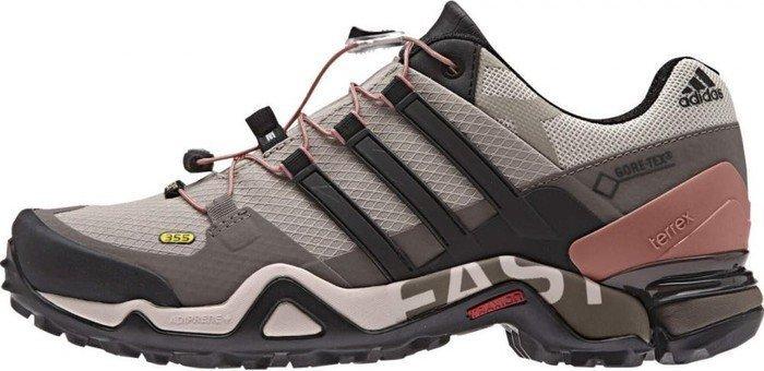 adidas Damen Terrex Fast R GTX Trekking- Wanderstiefel  Beige (Vapour Grey /Core Black/Tech Earth)