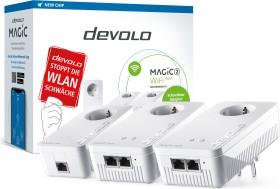 devolo Magic 2 WiFi next Multiroom Kit, G.hn, 2.4GHz/5GHz WLAN, 2x RJ-45, 3er-Bundle (8625/8635)