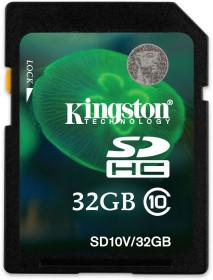 Kingston SDHC 32GB, Class 10 (SD10V/32GB)