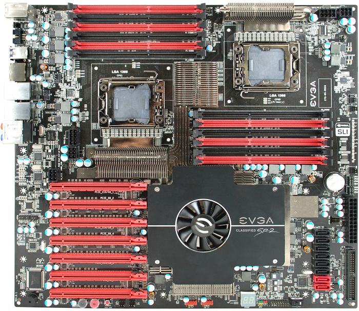 EVGA Classified SR-2 without ECP, i5520 (dual Socket 1366, triple PC3-10667R reg ECC DDR3) (270-WS-W555-E1)