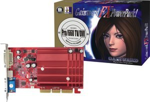 Gainward FX Powerpack! Pro 680/685 TV-DVI, GeForceFX 5200/5500, 256MB DDR, VGA, DVI, TV-out, AGP (5889)
