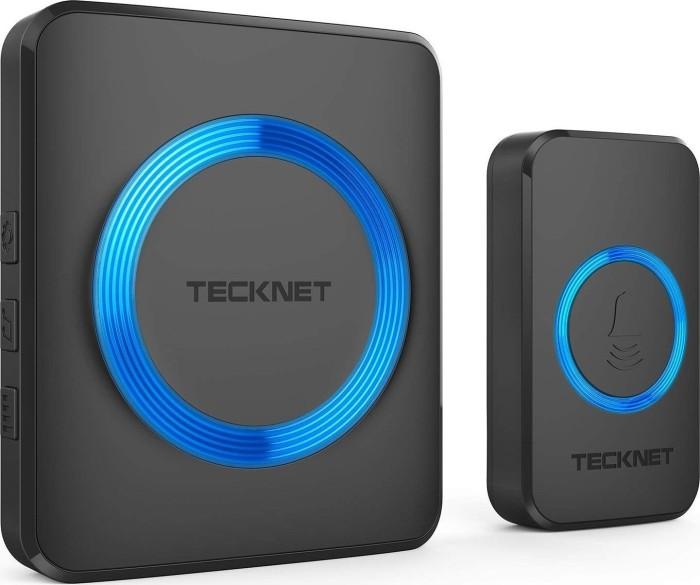 TeckNet WA878 plug-in black, wireless door bell and Gong, double set