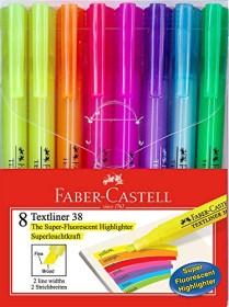 Faber-Castell Textliner 38, Textmarker, sortiert, 8er-Set, Etui (158131)