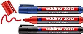 edding 300 Permanentmarker sortiert, 3er-Set (4-300-3-1999)