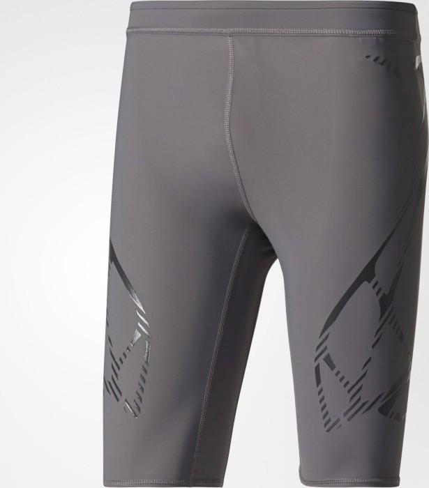6856cfe269fbe adidas adizero Sprintweb Tights running pants short grey five/utility black  (men) (