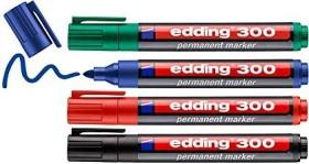 edding 300 Permanentmarker sortiert, 4er-Set (4-300-4)