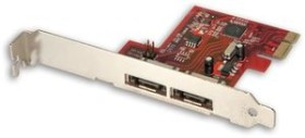 Lindy SATA 3 Card, 2x eSATA 6Gb/s, PCIe x1 (51400)