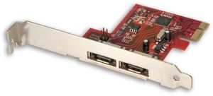 Lindy SATA 3 Card, 2x eSATA 6Gb/s, low profile, PCIe x1 (51400)