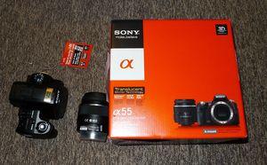 Sony Alpha 55 black with lens AF 18-55mm 3.5-5.6 DT SAM (SLT-A55VL)