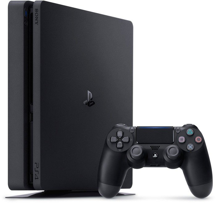 Sony PlayStation 4 Slim - 500GB inkl. 2 Controller schwarz