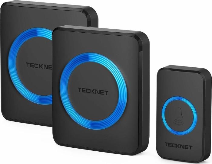 TeckNet WA888 Plug-In schwarz, Funk-Türklingel und Gong, 3er-Set