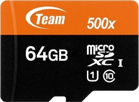 TeamGroup R80/W15 microSDXC 64GB Kit, UHS-I, Class 10 (TUSDX64GUHS03)